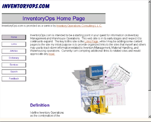 InventoryOps Site in 2000